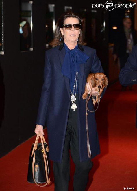 La princesse Caroline de Hanovre lors du Grand Prix du Gucci Paris Masters à Marc Houtzager, vainqueur devant Denis Lynch et Alvaro de Miranda Neto à Villepinte le 2 décembre 2012.
