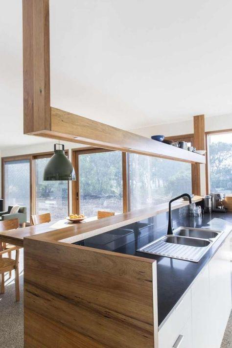 Kchen Halbinselform. Moderne Küche Mit Halbinsel In Schwarz, Taupe