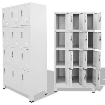 Ad Ebay Steel Locker Cabinet Stand Unit With 1 2 3 4 12 Compartments School Office Boxes Locker Storage Lockers Vintage Lockers