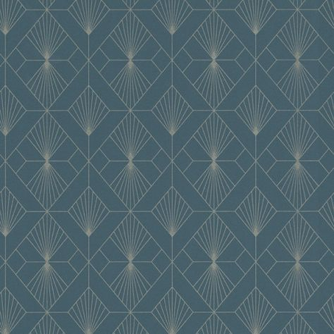Graham And Brown Diamond Black /& Gold Geometric Wallpaper 105978