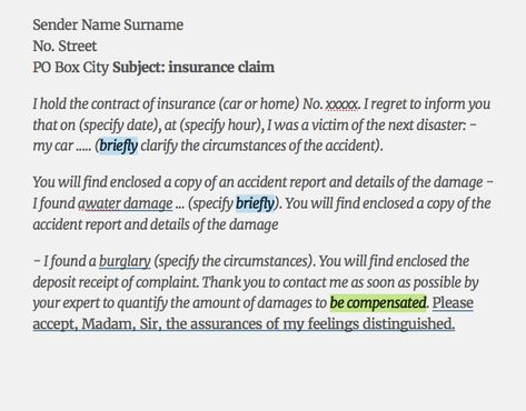 Sample insurance claim Letter -    resumesdesign sample - please find attached resume