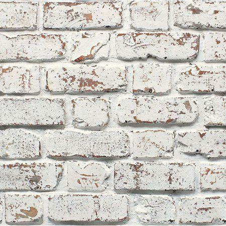 Fine Decor White Rustic Brick Wallpaper Walmart Com White Brick Wallpaper Brick Wallpaper Brick Effect Wallpaper