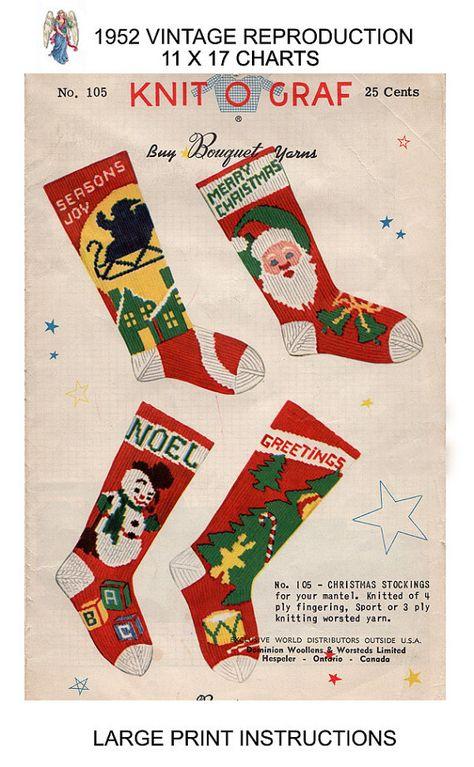 4 PACK **CHRISTMAS STOCKINGS** ~~~~~~~~~~~ Christmas