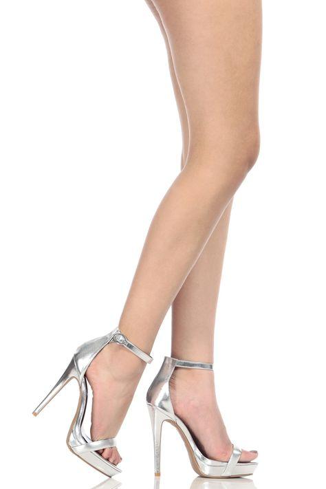 1224ee7ab39 Anne Michelle Glitter Rhinestone T-Strap Stiletto Heel | UrbanOG