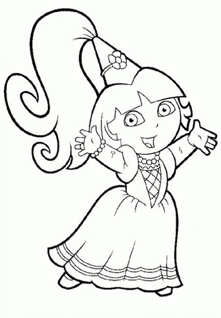 Printable Coloring Pages For Girls Dora Printables And Charts With Regard To Printable Coloring Pages Fo Dora Coloring Princess Coloring Pages Coloring Pages