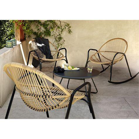 Salon de jardin en métal, Collection Cuba rocking chair/Nova ...