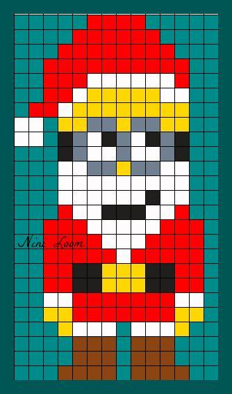 Santa Minion Perler Bead Pattern Dessin Petit Carreau