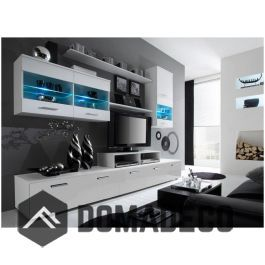 Tv Wall Unit Dimensions Height 190 Cm Width 250 Cm Depth 45 Cm Height Contemporary Living Room Sets Modern Living Room Wall Living Room Sets Furniture