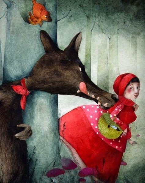 Pinzellades al món: Guaita Caputxeta, que el llop et persegueix! / Vigila Caperucita, que el lobo te persigue! / Riding Hood care, the wolf is chasing you! (28)