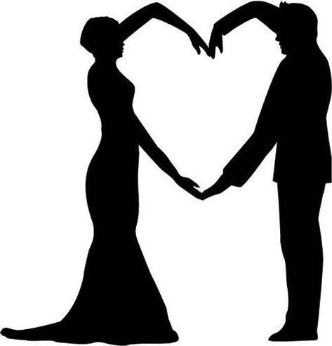 Wedding cake topper Bride and groom silhouette Cake | Etsy - #bride #Cake #Etsy #Groom #Silhouette #topper #wedding