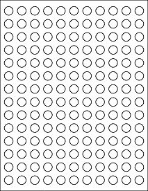 White Circle 0 5 Round Label Sheet 1 154 Labels