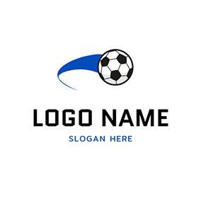 Black And White Football Icon Logo Design Logos Deportivos Deportes