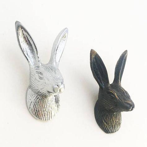 Silver Effect Antelope Coat Hook 22cm High Unique Sculptures Animal Sculptures Silver