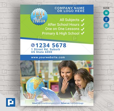 Children Tutoring Services Flyer - PSDPixel