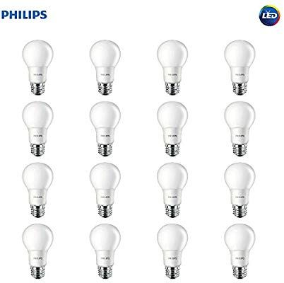 Philips Led Non Dimmable Frosted Light Bulb 800 Lumen 8 5 Watt 60 Watt Equivalent Soft White 16 Pack Ama Light Bulb Led Light Bulb Philips Led
