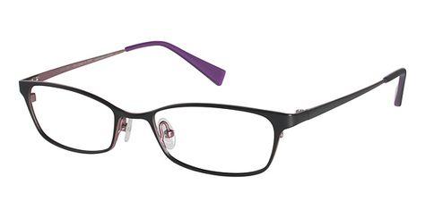 87f8af0958 Modo 4019 Eyeglasses in matte black with pink purple interior