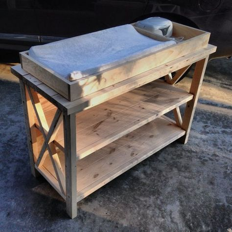 Ana White | Build a Rustic X DIY Changing Table | Free and Easy DIY Project and Furniture Plans