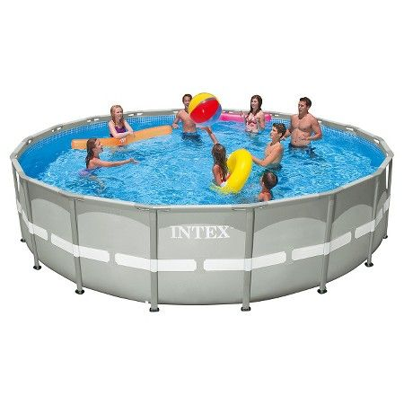 Power Steel 16 X 10 X 42 Inch Oval Frame Pool Set With Filter Pump
