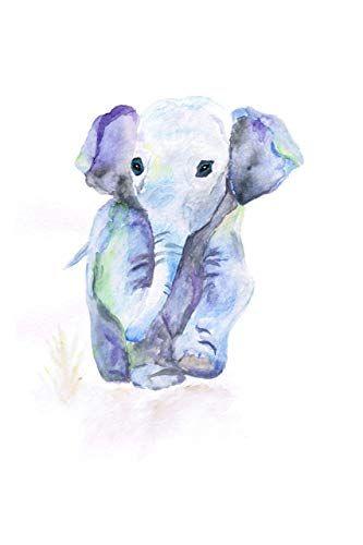 Elephant Painting Watercolor Wall Art Artwork Nursery Decor Kids