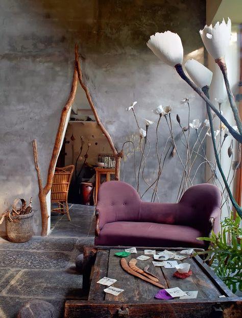 La maison et l'atelier d'une artiste en Belgique