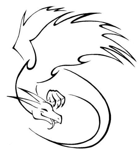 Dragon Tattoo Hoop Dragon Hoop Tattoo Tribaldragontattoosimple Kleine Drachen Tattoos Drachentattoo Drachenzeichnungen