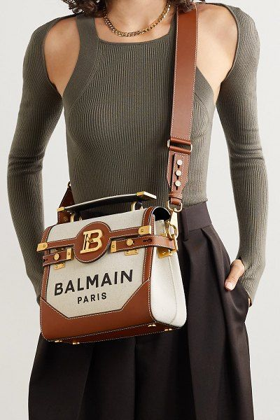 Balmain Bag, Fashion Bags, Fashion Outfits, Womens Designer Bags, Stylish Handbags, Gym Style, Canvas Shoulder Bag, Zipper Bags, Luxury Bags