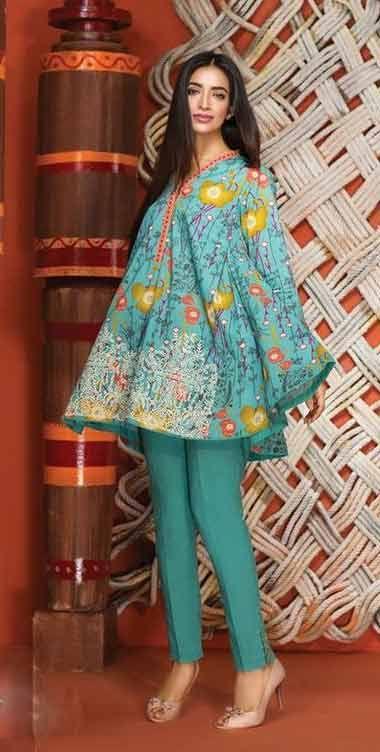Abdullha Stylish Dress Designs Pakistani Fashion Casual Girls Dresses Sewing