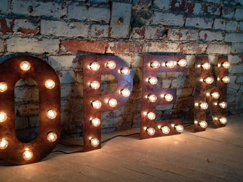 Marquee Light Bulb Letters 14 18 24 36 by WestVintageTradingCo, $84.00