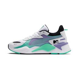 PUMA x Mtv Rs-x Tracks Pastel 1 Trainers in White/Sweet Lavender size 6.5