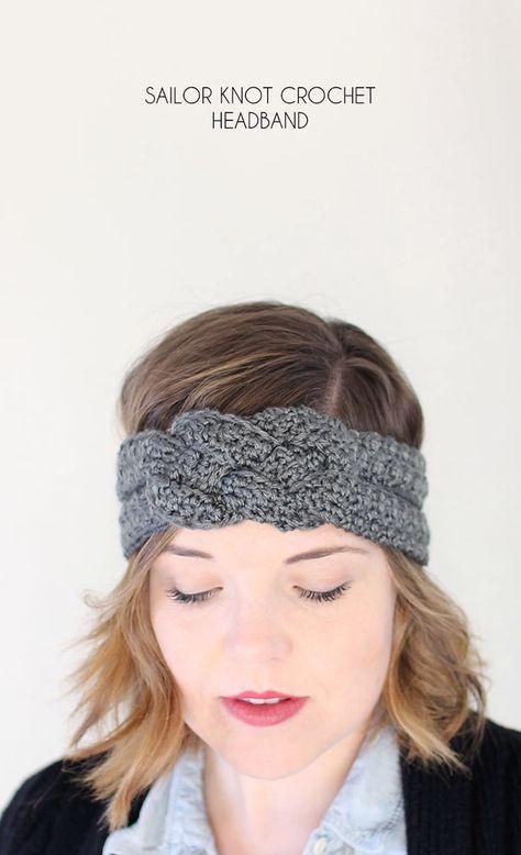Sailor Knot Crochet Headband - Free Pattern | Pinterest | Häckeln ...