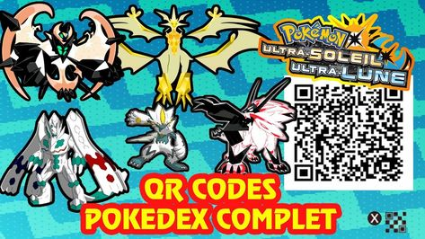 Tous Les Qr Codes Pokedex Complet Alola Pokemon Ultra Soleil