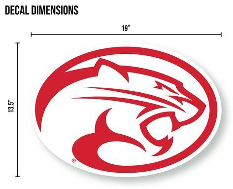 University of Houston Cougar Logo Cornhole Decal