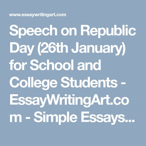 Speech on Republic Day (26th January) for School and College - tribute speech examplestraining evaluation form