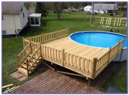 Landscaping Pool Above Ground Deck Plans 51 Ideas Pool Deck Plans Backyard Pool Landscaping Round Above Ground Pool