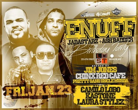 DJ Enuff Birthday @ Lust NY Friday January 23, 2015 « Bomb Parties – Club Events and Parties – NYC Nightlife Promotions