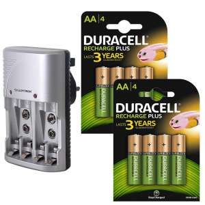 Lloytron Aa Aaa Battery Charger With 8x Duracell Aa Aaa Battery Charger Duracell Battery Charger
