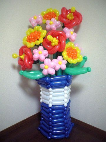Flower bouquet by Annette Lawson | balloon bouquets | Pinterest