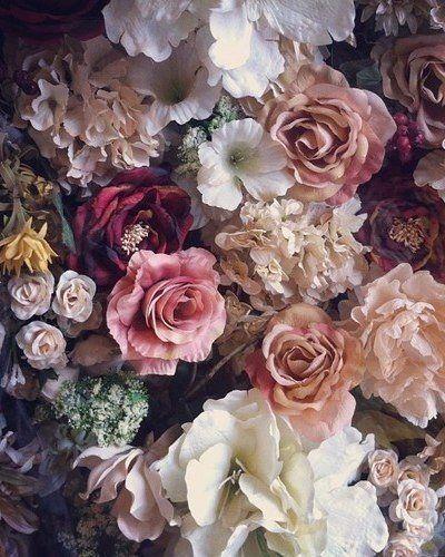 Altrosa Traumchen Vintage Blumen Blumen Gemalde Blutenfarben