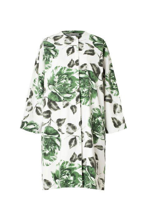 Huntington Canvas Coat, Juniper Flower