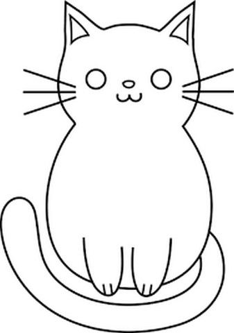 gambar kucing yang mudah untuk digambar di 2020 clip art gambar simpel gambar gambar kucing yang mudah untuk digambar