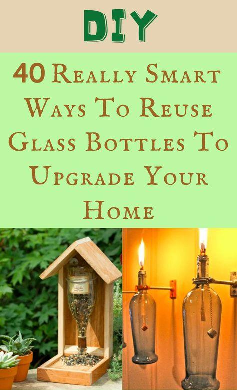 Life Hacks Home, Useful Life Hacks, Tin Can Crafts, Diy And Crafts, Bottles And Jars, Glass Bottles, Utensil Holder, Candle Holders, Bottle Picture