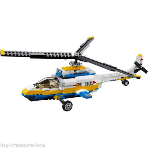 "Ages 8-12 yrs LEGO CREATOR 31011 /""3 in 1/"" Aviation Adventures 618 pc set"