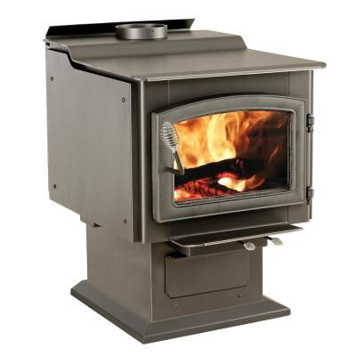 Vogelzang Ponderosa 3 200 Sq Ft Wood Burning Stove With Blower Tr007 The Home Depot Wood Burning Fireplace Inserts Wood Stove Fireplace Small Wood Burning Stove