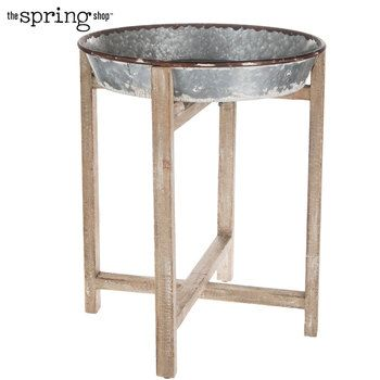Galvanized Metal Planter With Stand