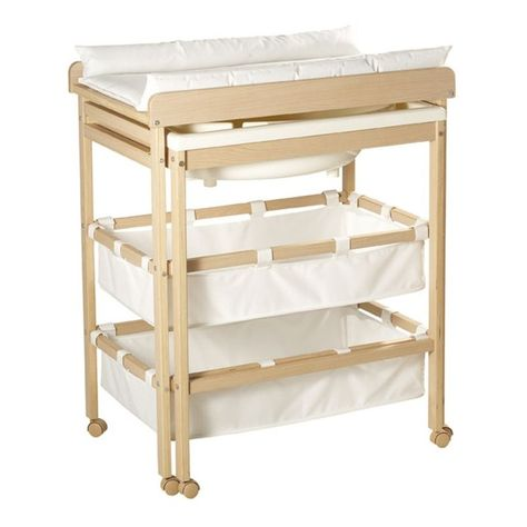 Table A Langer Coulissante Bois Marron Baby Changing Tables