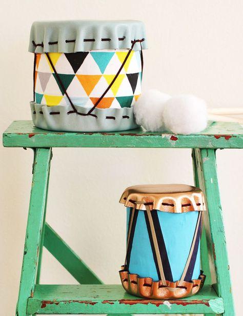 Adorable DIY Drums