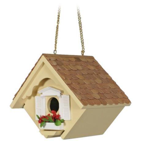 Yellow Little Wren Cottage Bird House M8822 Lampsplus Com Bird House Wren House Bird House Kits