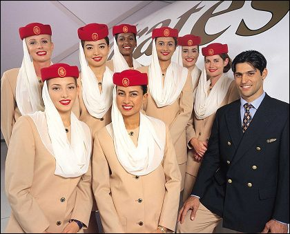 An example of the beautiful Emirates Cabin Crew uniforms my job - emirates flight attendant sample resume