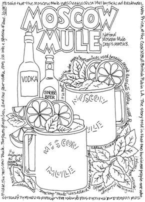 Creative Haven Happy Hour A Wine Beer And Cocktails Coloring Book Doverpublications Food Coloring Pages Creative Haven Coloring Books Coloring Books