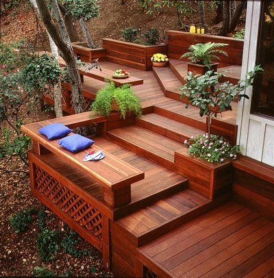 The Key To Maintaining A Green Pedigree On Your Redwood Deck Is Using Redwood Harvested From New Growth In 2020 Redwood Decking Small Backyard Decks Building A Deck